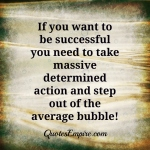 determined vs average action