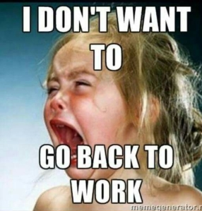 dont want to go back to work